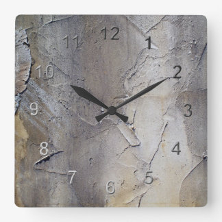 Stucco Wall Square Wall Clock