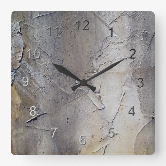 Stucco Wall Square Wall Clock