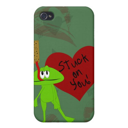 Stuck on You Valentine i Cases For iPhone 4