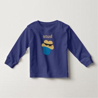 Stud Muffin Blue Boys Long Sleeve Shirts