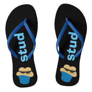 Stud Muffin Humorous Men's Flip Flops