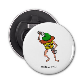 Stud Muffin Weight Lifting Bottle Opener