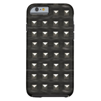 Studded Black Leather Tough iPhone 6 Case