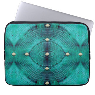 Studded Floor Pattern in Aqua Blues Computer Sleeve