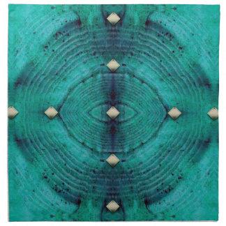 Studded Floor Pattern in Aqua Blues Napkin