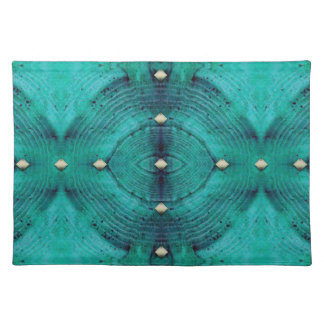 Studded Floor Pattern in Aqua Blues Placemat