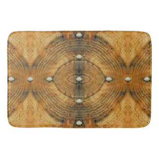 Studded Floor Pattern in Golden Browns Bath Mat