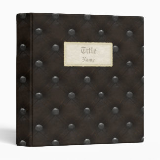 Studded Leather Armor Vinyl Binders