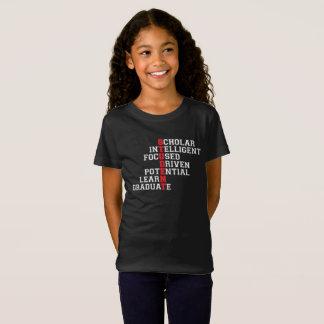 Student Acrostic Girl's T-Shirt (dark)