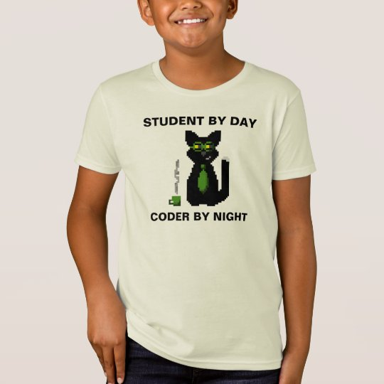 Student by Day - Coder by Night Cat Shirt