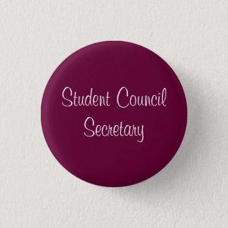 Student Council Secretary 1 Inch Round Button