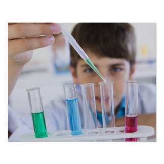 Student doing science experiment 3 poster
