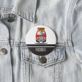 Student Driver Cartoon 3 Inch Round Button