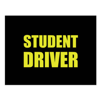 Student Driver Caution Postcard