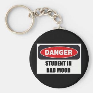 Student in Bad Mood! Keychain