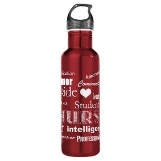Student Nurse-Attributes/Heart+Personalize Name 710 Ml Water Bottle