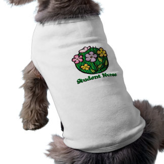 Student Nurse Blooms Dog Tee Shirt