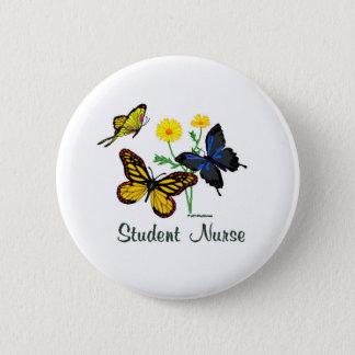 Student Nurse Butterflies 2 Inch Round Button