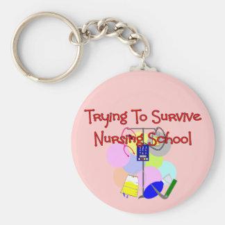 Student Nurse gifts Basic Round Button Keychain