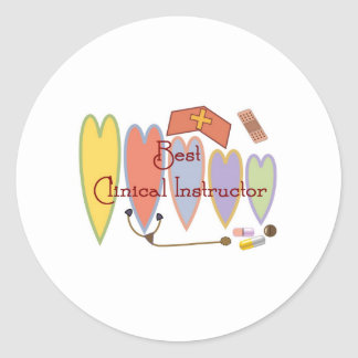 Student Nurse/Instructor gifts Round Sticker