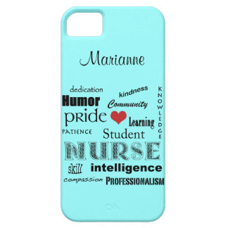Student Nurse Pride-Attributes /Aqua Mist Case For The iPhone 5