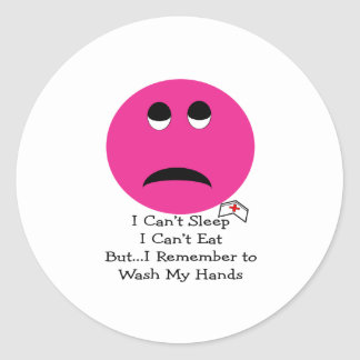 Student Nurse Smiley Face Gifts Round Stickers