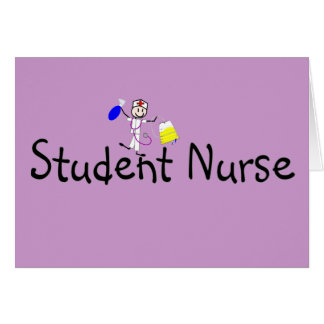 Student Nurse Stick Person Card