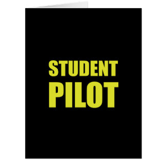 Student Pilot Caution Card