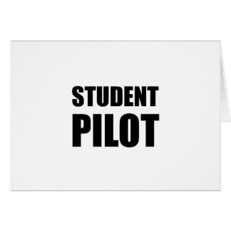 Student Pilot Caution Card