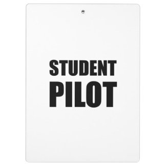 Student Pilot Caution Clipboard