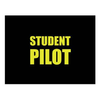 Student Pilot Caution Postcard