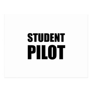 Student Pilot Caution Postcard