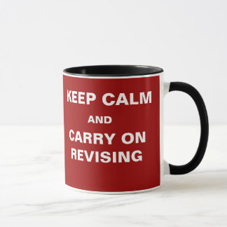 Student Revision Mug Funny Exams Keep Calm Quote