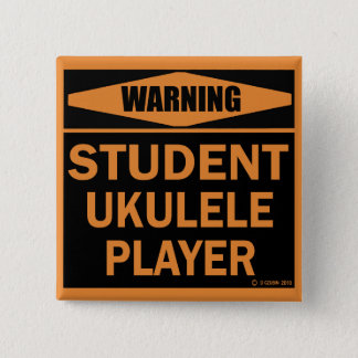 Student Ukulele Player 2 Inch Square Button