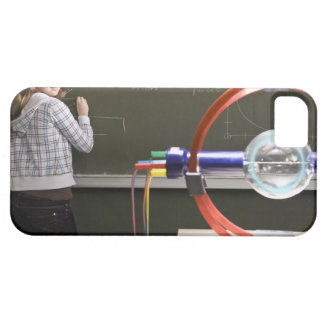 Student writing on blackboard iPhone 5 covers