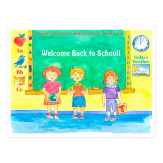 Students Classroom Welcome Back To School Postcard
