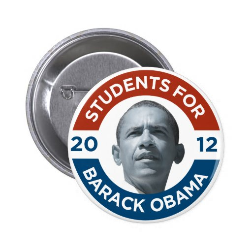 Students For Barack Obama 2012 Pins