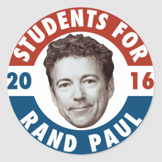 Students for Rand Paul - vintage campaign sticker