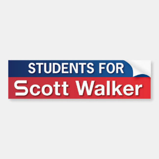 Students for Scott Walker Bumper Sticker