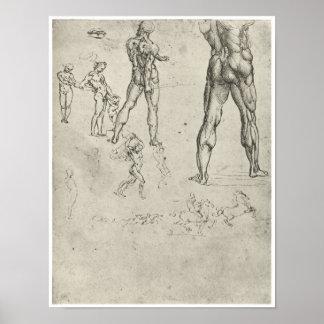 Studies for The Legs of Man Leonardo da Vinci Print