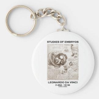 Studies Of Embryos (Leonardo da Vinci) Keychain