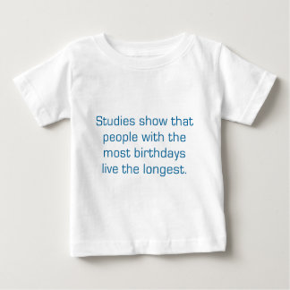 Studies Show That People With The Most Birthdays Baby T-Shirt