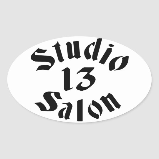 Studio 13 Salon Stickers Oval