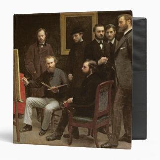 Studio at Batignolles, 1870 3 Ring Binder