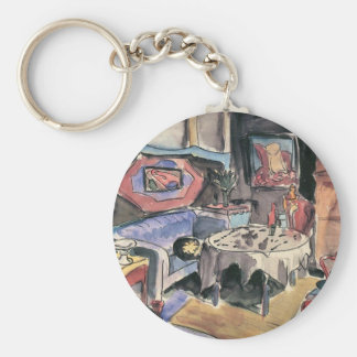 Studio Cover by Walter Gramatte Key Chains