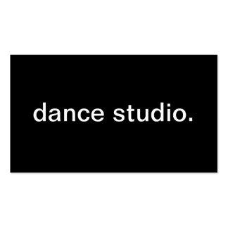 Studio de danse modèles de cartes de visite