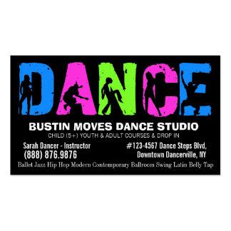 Studio de leçons ou de danse de danse modèle de carte de visite