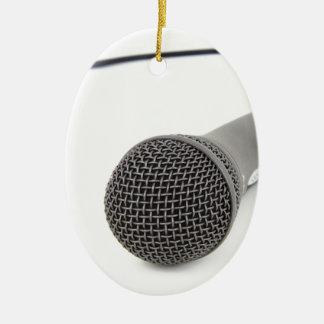 Studio Microphone Ceramic Ornament