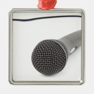 Studio Microphone Metal Ornament