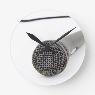Studio Microphone Round Clock